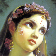Radha painting (detail)