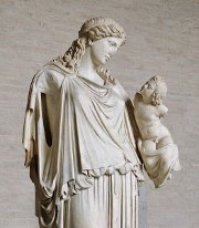 Eirene holding the child Plutus