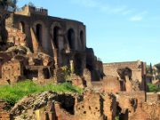 Ruins of the palace on the Palatine Hill