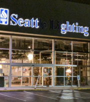 Seattle Lighting store sign