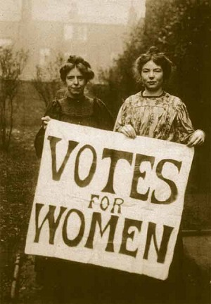 Suffragists Annie Kenney and Christabel Pankhurst
