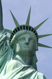 Verdigris on the Statue of Liberty